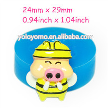 DYL183 McDull Pig Mold Fondant Cake Deocorating Mold 29mm - Cabochon Fake Sweet Marshmallow Molds, Candy Mould Food Safe
