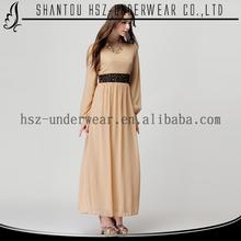 MD2002 2015 Women new fashionplus size long sleeve wrap maxi dress islamic wholesale abaya boho maxi dress muslimah jubah