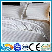 Hotel fitted sheets plain percale pattern, stripe pattern, or satin pattern bedding set fabric