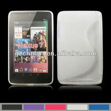 Hot selling TPU S line case for Google Nexus 7 waterproof case