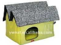 handmade short plush dog kennel with undulating roof