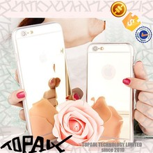 Ultra thin Mirror Tpu Mobile Phone Case For iPhone 6