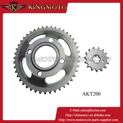 Motorcycle Chain and Sprocket Kits Parts for Mini 49cc Motorcycle AKT200 C90 CBX250 DAX