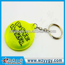 2013 promotional cheap reflective puffy PVC gifts key chain made in china