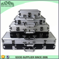 Fashion OEM silvery handle wholesale aluminum eva tool case