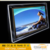 Single side LED crystal light box frame for advertising display
