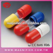 Wholesale Pharmaceutical Premium Capsule Shaped 3X,Plastic Magnifier Lens