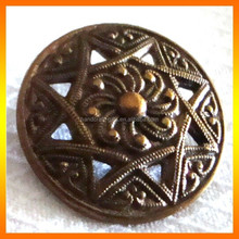 Wholesale Factory Vintage Metal Engraved Buttons