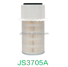 Primary round metal element with fins air filter AF409K 0727-23-603 P118160