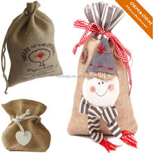 Factory OEM high quality ECO-friendly packaging bags/gunny jute drawstring packaging bags