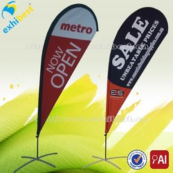 advertising beach banner with pole festival display custom promotional durable decorative salable outdoor cheap