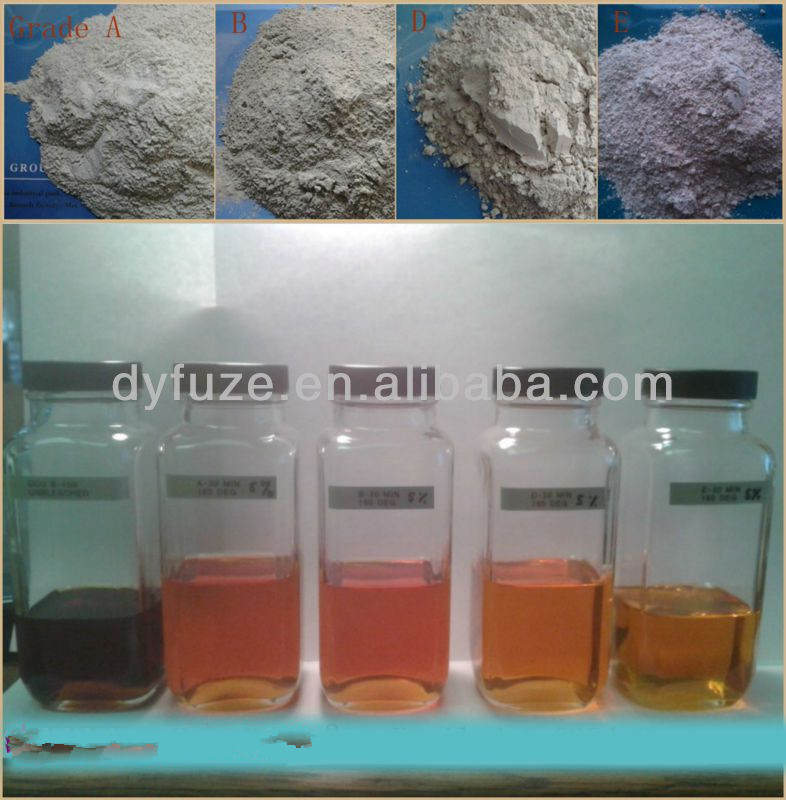 2014 high grade decolorizing and purifying chemical: Activated clay