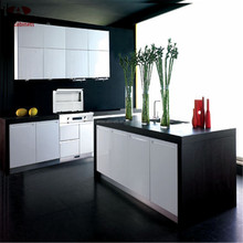 Modern cheap white stainless steel kitchen cabinet made in china for small kitchen designs
