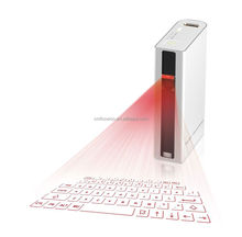 Promotion!!! Portable virtual wireless laser keyboard and bluetooth mouse power bank via USB for android tablet,laptop,ipad mini