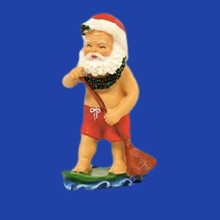New Products Fashion Resin Christmas Ornaments Surfing Santa Claus