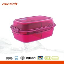 BPA free double layer food grade plastic container