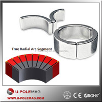 Neodymium magnet True radial Arc segment for motor