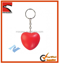 Hot selling heart keychain stress ball PU toy