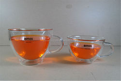Original Design Patented Handmade Pyrex Double Wall Glass Cup for Coffee/Tea/Beer/Water/wine/juice