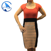 High Fashion Beautiful Short Sleeve Woman Sweater Dress