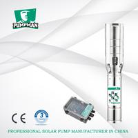 Pumpman 110V~300V stainless steel impellers energy saving solar dc submersible pump