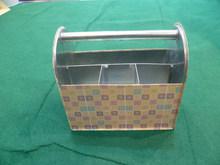 NEW DESIGN Metal Caddy Metal Organizer Box/ Rectangle Metal Sundries Metal Collector Case Picnic Caddy