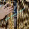 Shimmering 8mm beads metal string ball curtain