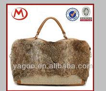 2014 Real rabbit hair bag rabbit fur pu bag