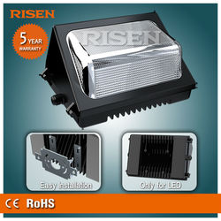 UL 70W led wall pack + Meanwell driver IP65 CE Rohs Certified IES Dialux simulation service