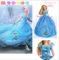 Barato estilo cenicienta vestido de / niñas vestidos / manga corta de cenicienta vestido de cosplay BC4279