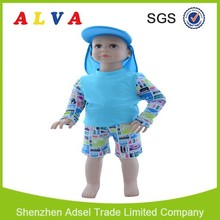 2015 Hot Sale Alva Girls Rash Guards UPF 50+ Clothes with Sun Protection Baby Suit