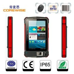 Best selling Waterproof A370 GPS bluetooth 3G SIM Quad core RFID reader fingerprint reader 7inch Android industrial Rugged Table