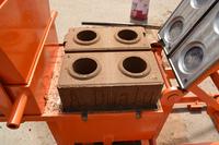 QMR2-40 manual soil bricks machine mud cement hollow block making machine in Nepal