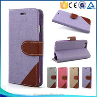 Double Colors Stand PU Leather Flip Case for iphone 6 4.7inch,Dual Flip Cover for i6