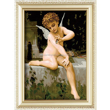 Hot sale baby angel oil painting by number,diy digital painting for wall decoration