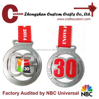 Design your own custom Metal Crafts production zinc alloy award metal sport medal with ribbon