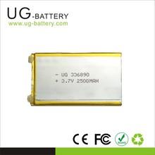 336890 Rechargeable Li-ion Li Polymer Battery packs 3.7v 2500mah Lithium