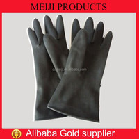 High Quality Industrial Latex Glove Black Industrial Latex Rubber Hand Gloves