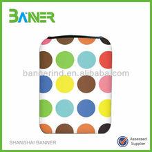 2015 Customized sublimation printing design neoprene laptop sleeve