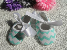 Wholesale cute comfortable chevron baby shoes for girls
