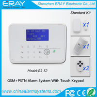 Most Advanced Touch keypad LCD Display Android/IOS GSM Wireless Home Alarm System with two-way intercom