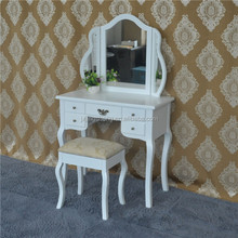 cheap bedroom furniture prices MDF wall mounted dressing table black