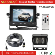 "5"" stand type car monitor back up reversing rear view camera kit system with parking line and 20M cable"