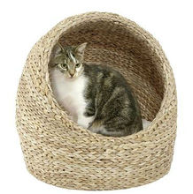 2013 new arrival cool rattan round pet bed for cats