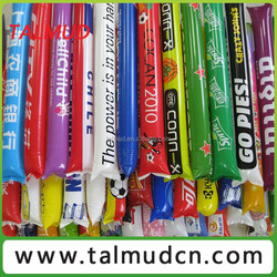 Innovative design cheering stick type and PE material promotion inflatable cheering sticks