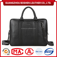 Executive Genuine Leather Laptop Bag Mens Briefcase