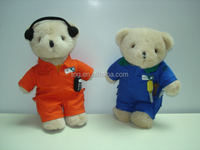 Custom-made Kids Educational or Promotional Gift Uniform Clothes Mini Plush Teddy Bear Toy