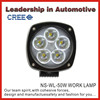 4.3 inch 50w led work light is brighter than hid xenon work light