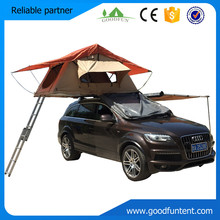 New High quality Aluminum retractable car roof top tent with awning