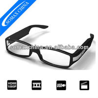 HD 1080P Fashion Glasses CCTV Camera with Motion Detect Function